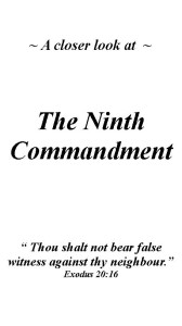 Ninth Commandment